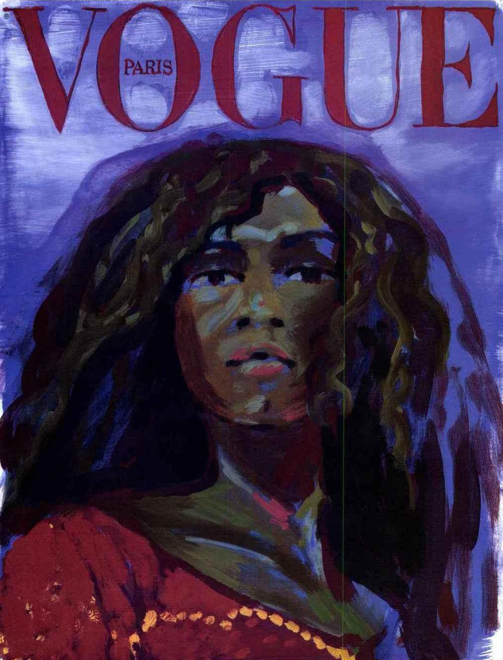"""Claire Tabouret, """"Assa Traoré"""", Vogue, Janvier 2019. Photo : Marten Elder."""