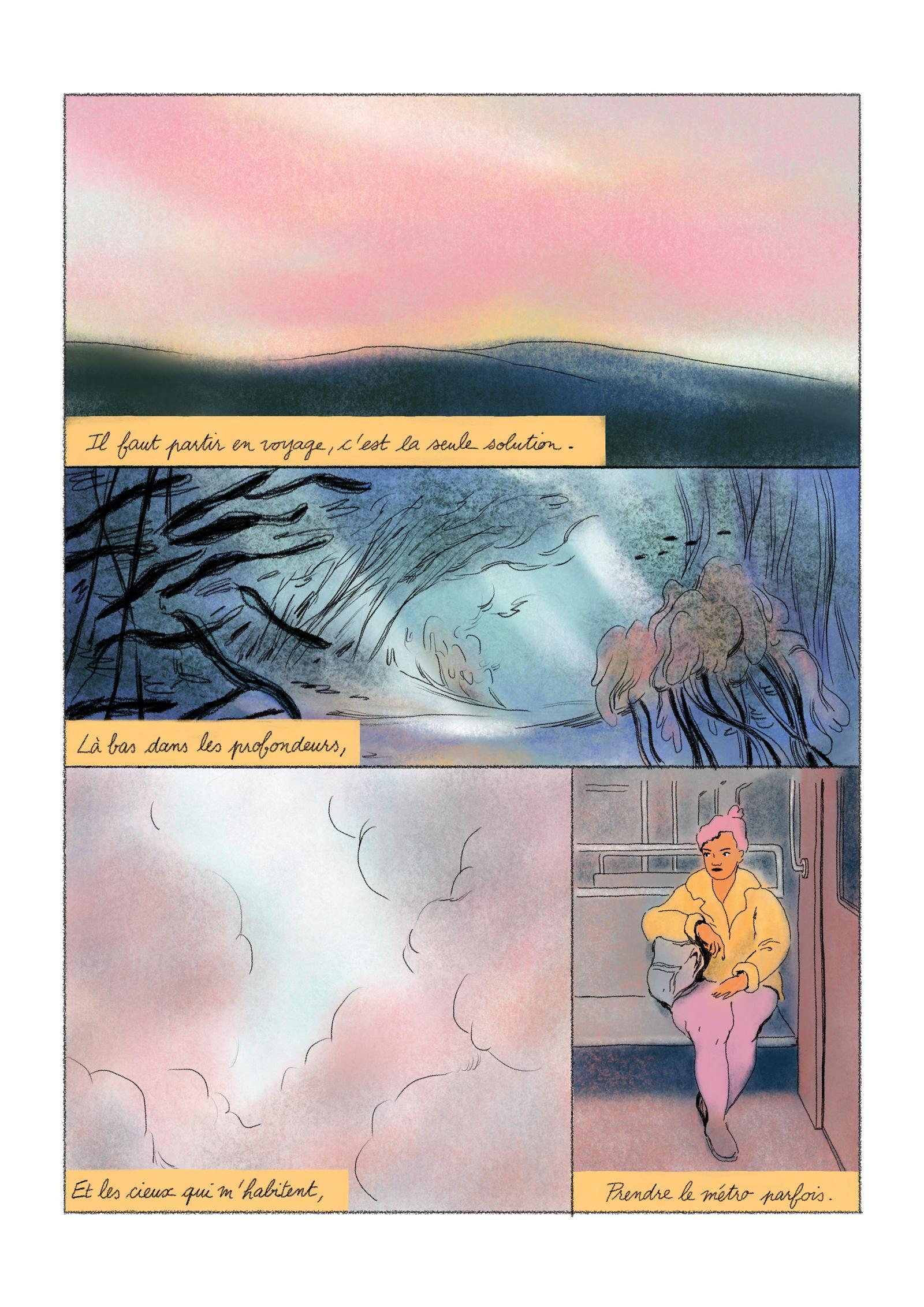 Aurore Vegas, « Brûler », pour Bela, mai 2021. Page 2/4.