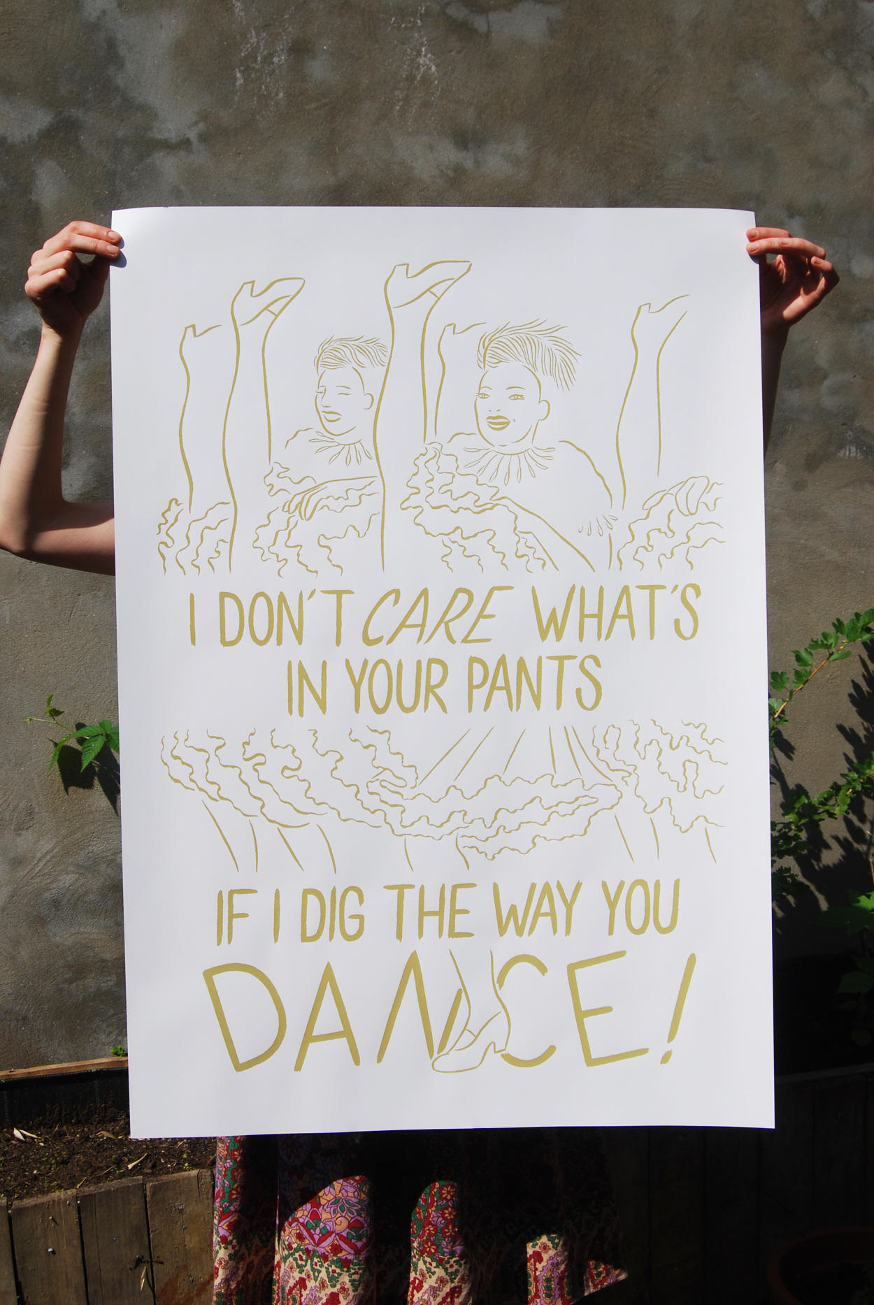Rebecca Rosen, poster sérigraphié pour le ACAB queer arts festival de Bruxelles, 2016.