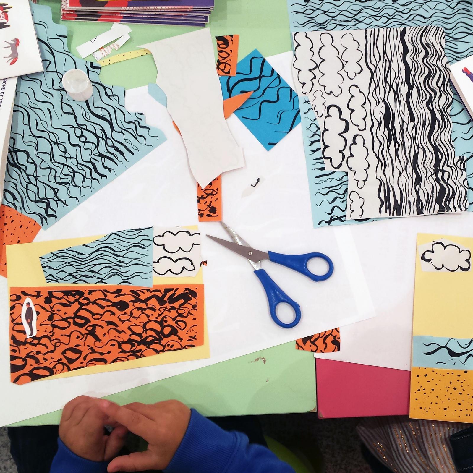 Couleurs composées : cartes postales.