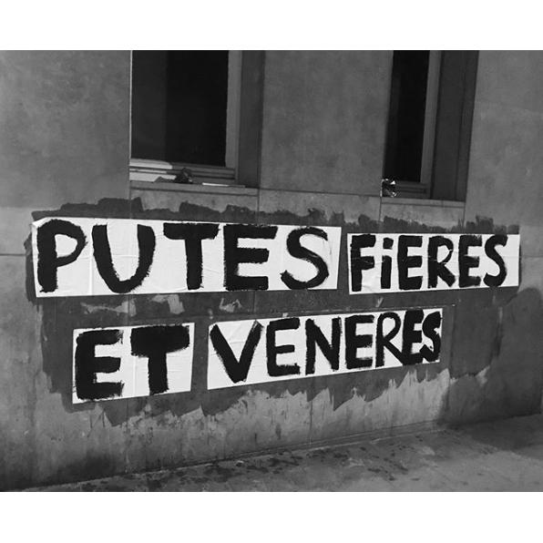 Collectif La Fronde. Collage : Putes fières et vénères (Bruxelles).