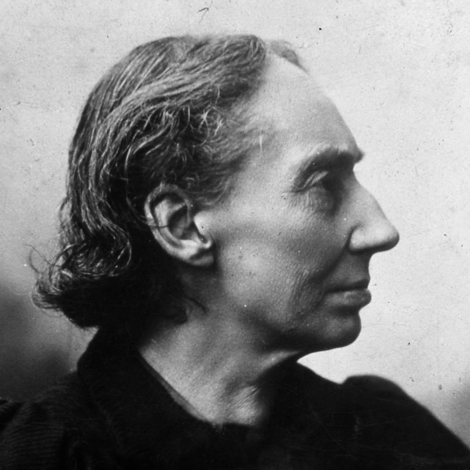 Louise Michel (1830-1905) de profil